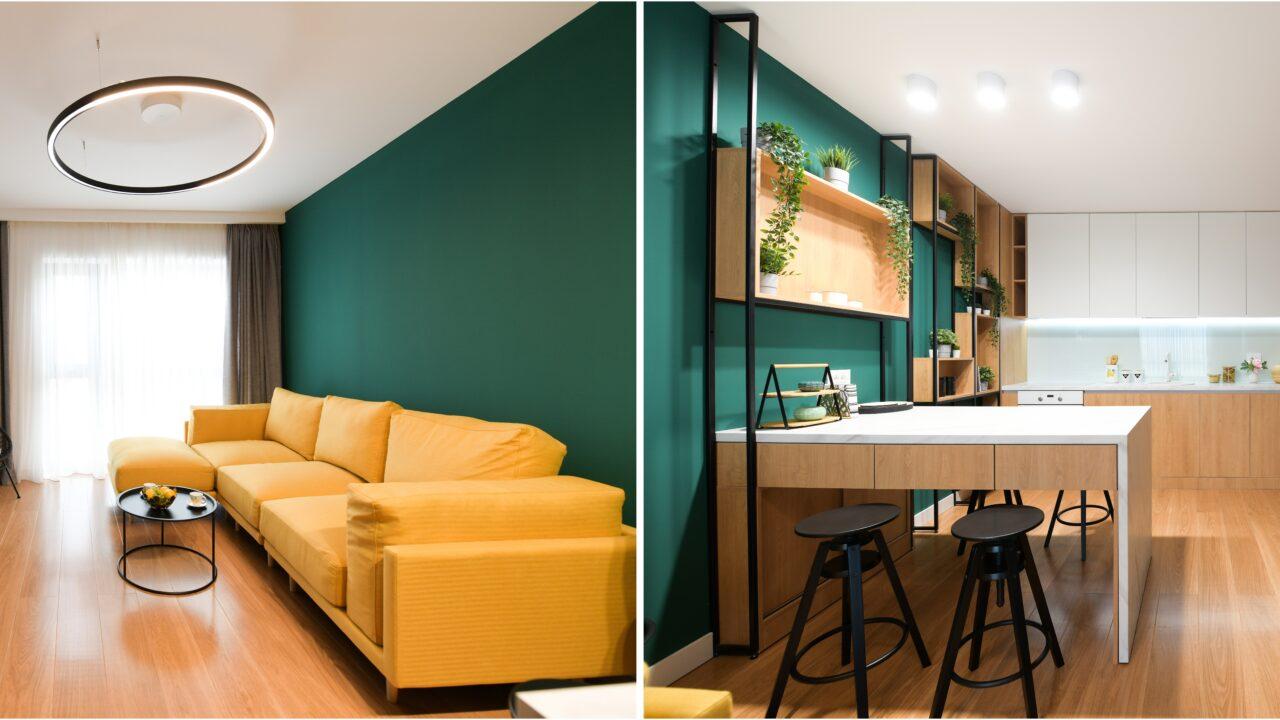 Compartimentarea inteligentă sau când cei 55 mp sunt suficienți pentru un apartament de 3 camere